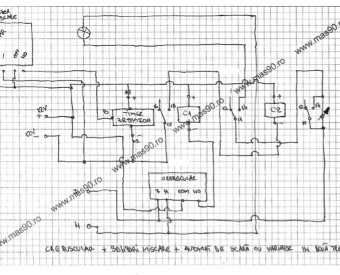 Crepuscular Senzori de miscare Automat scara cu variator